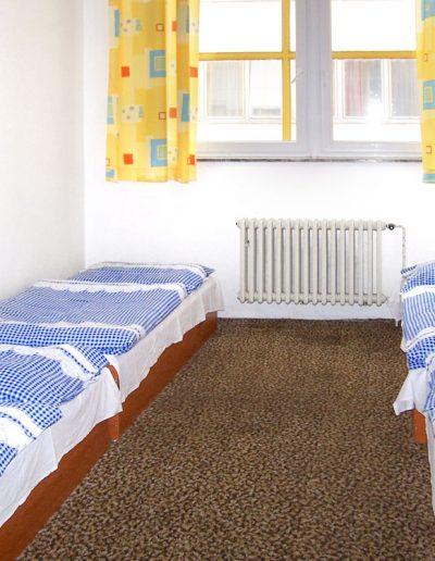 interiér ubytovny Koněvova
